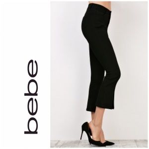Bebe Cropped Flare Pants